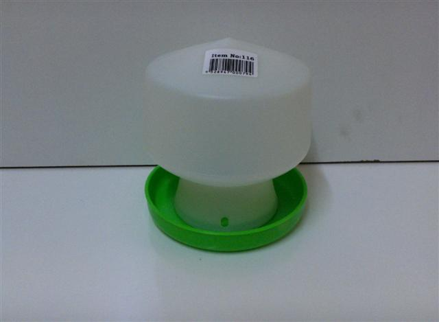 AVICO BALL TYPE WATERER 1.3L. (GREEN & WHITE) POULTRY