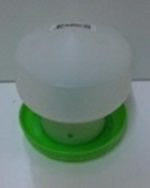 AVICO BALL TYPE WATERER 0.6 L. (GREEN & WHITE) POULTRY