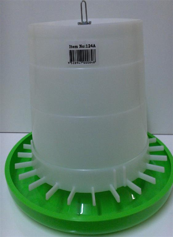 AVICO GEAR BOX FEEDER, 5 Kg (GREEN & WHITE) POULTRY