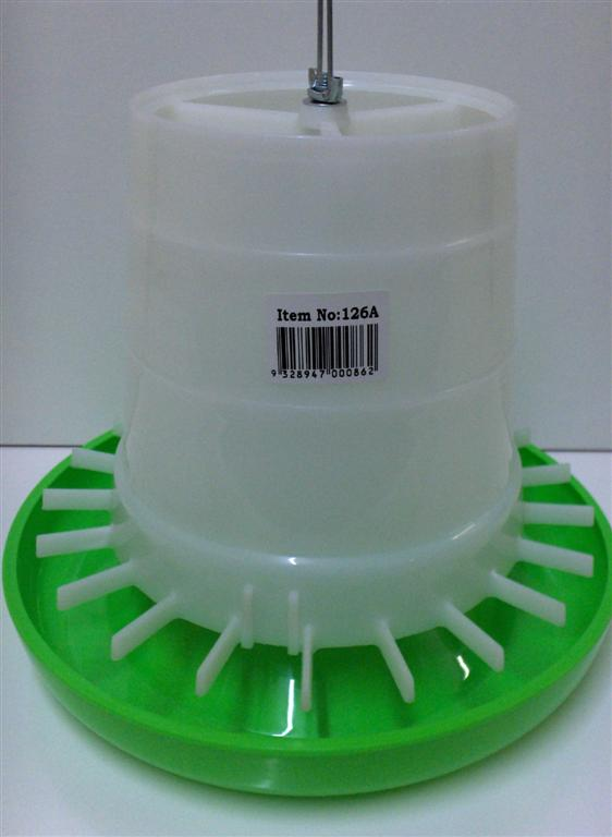 AVICO GEAR BOX FEEDER, 3 Kg (GREEN & WHITE) POULTRY