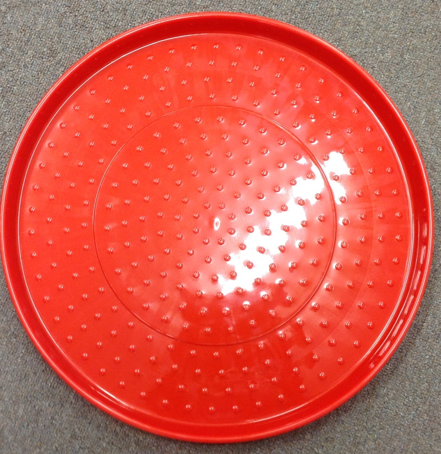 AVICO RED PLASTIC POULTRY FEED TRAY 410mm