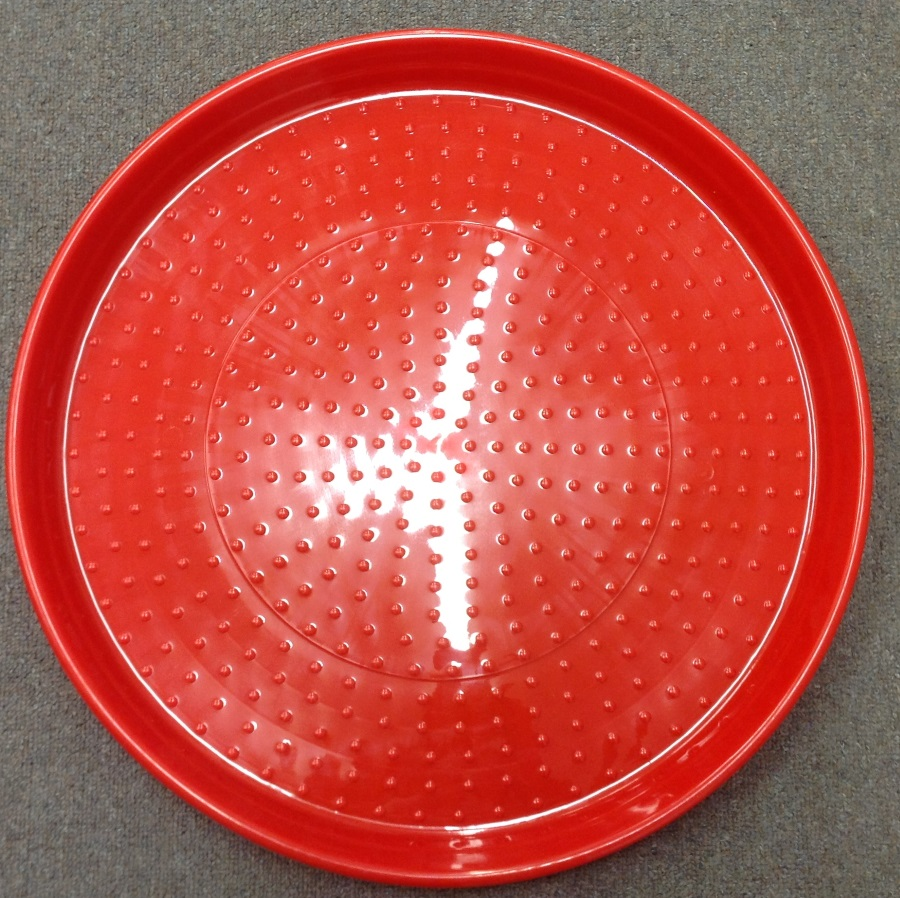 AVICO RED PLASTIC POULTRY FEED TRAY 520mm