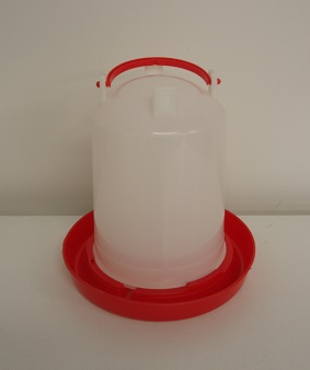 AVICO RED AND WHITE 3LT SLEEVE STYLE POULTRY WATERER