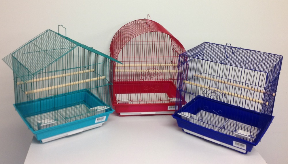 SMALL MIXED STYLES BIRD CAGES 6/ CTN.