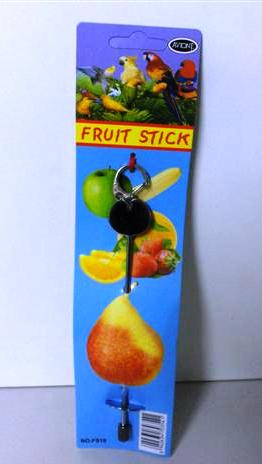 METAL FRUIT SPEAR WITH KEYRING