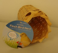 FINCH NEST TUBE SHAPE (RATTAN) 17X8CM