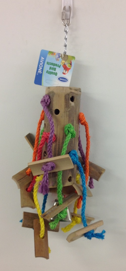 LARGE BAMBOO TOY WITH SISAL & WOODEN SHAPES