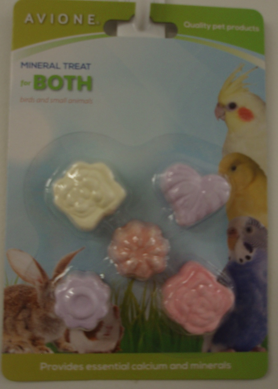 MINI MINERAL TREATS 2cm DIA. FOR BIRDS 5 PACK