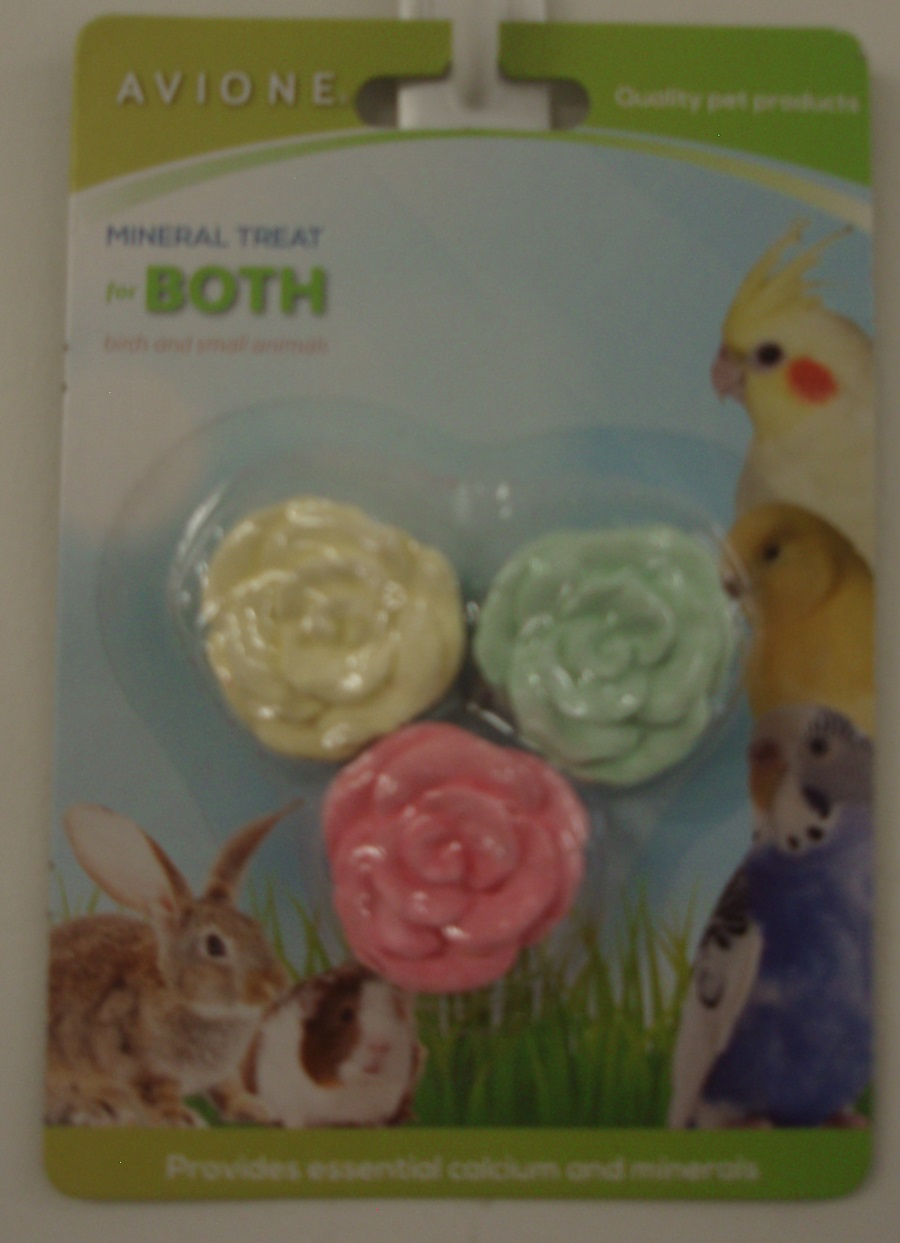 SMALL FLOWER MINERAL TREAT 3.5cm DIA. FOR FOR RABBITS