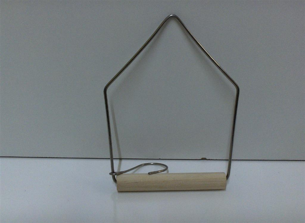 WOODEN SWING PERCH, TRIANGLE, 10X12.5cmH