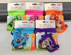 LARGE CAT HARNESS/LEAD SET, CARDED NECK 22-28 CHEST 28-40CM