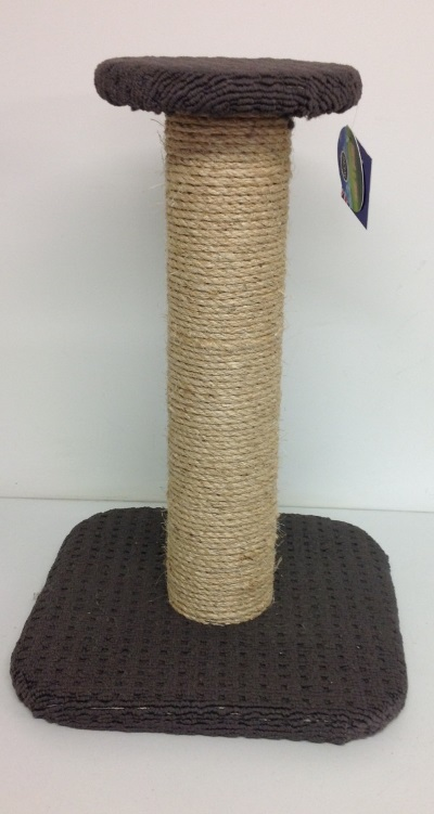 SMALL ROUND TOP CAT POST W/ SISAL POLE