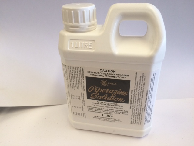 Piperazine Solution for poultry, pigeons and pigs 1L