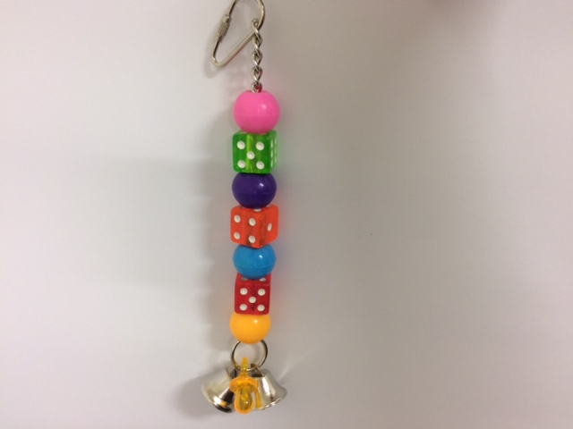 AVIONE lots of dice hanging bird toy