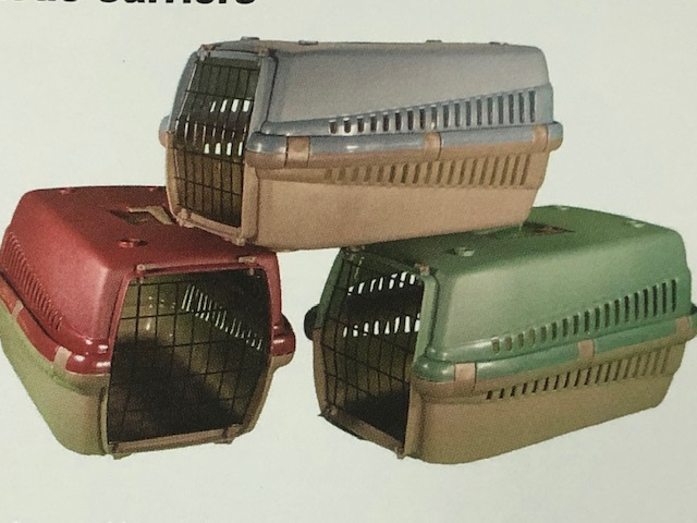 Pet Dog Large plastic vet carrier 54 x 38 x 33cm