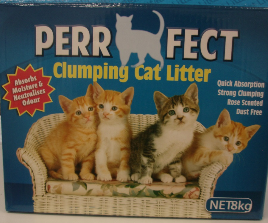 8KG PERRFECT CLUMPING ROSE SCENTED CAT LITTER