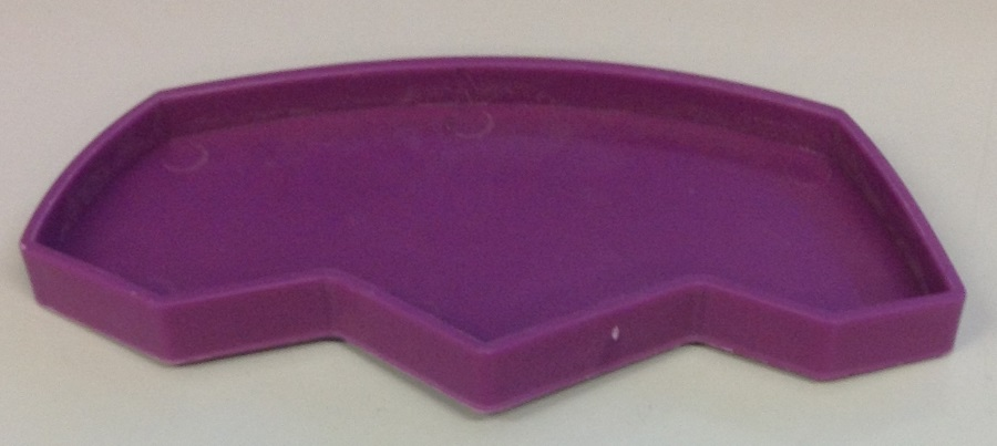 LARGE PURPLE FOOT PRINT SHAPE DISH FOR REPTILES