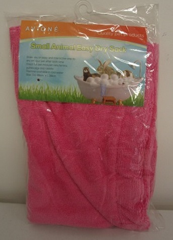 SMALL ANIMAL GROOMING TOWEL : PINK - DIA:26cm L:38cm