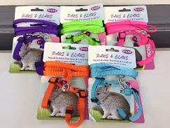 SMALL RABBIT NYLON HARNESS & LEAD SET, CARDED