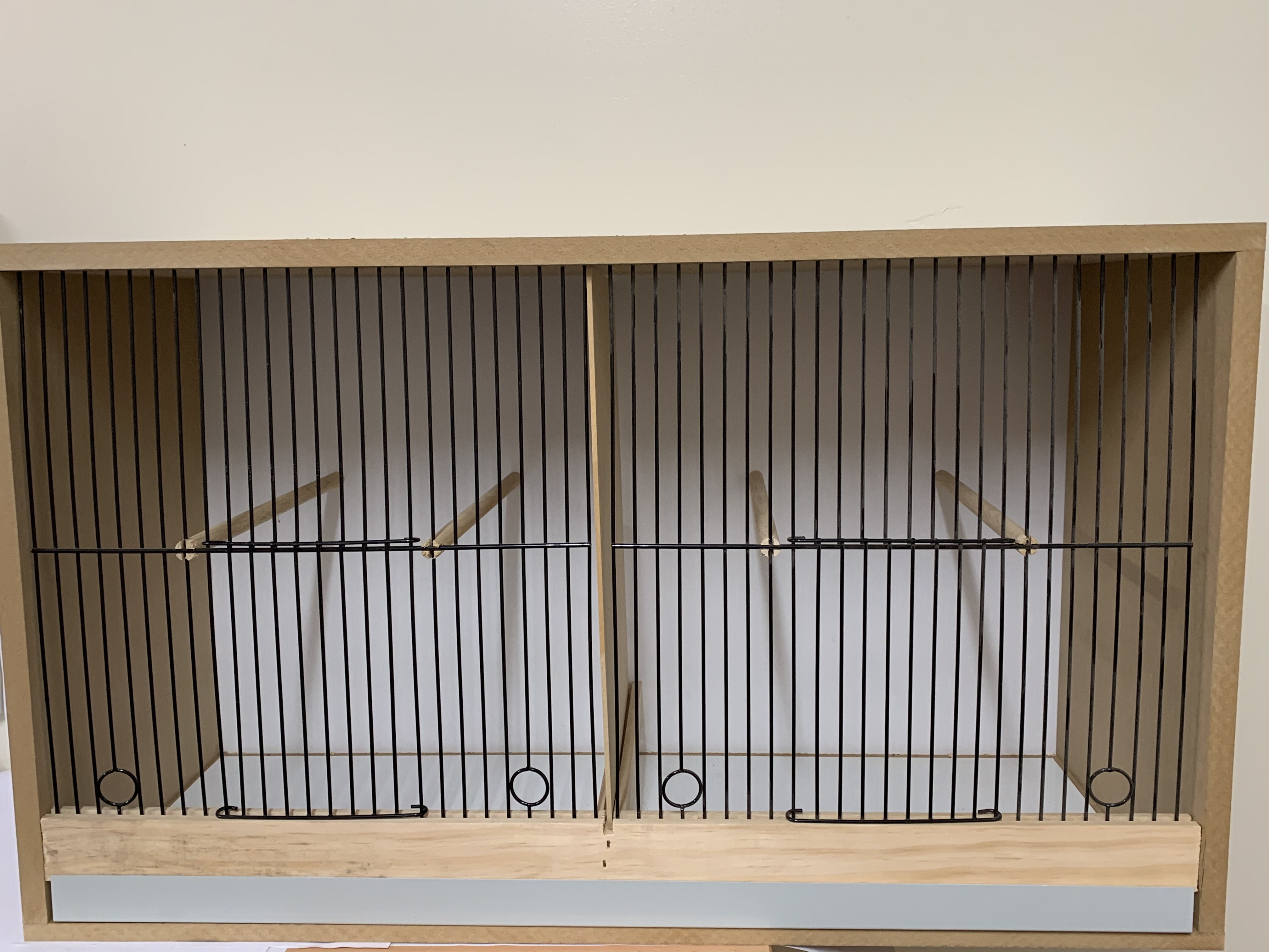 Canary double wooden cabinet breeding