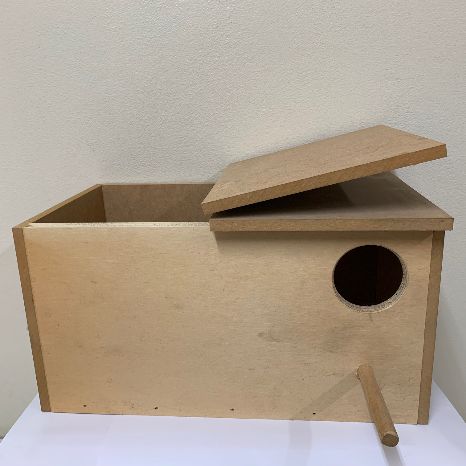 Wooden Rosella Nest Breeding Box w hinged top