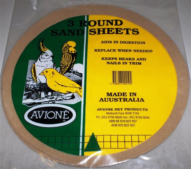 ROUND SAND SHEETS PK/3 33CM